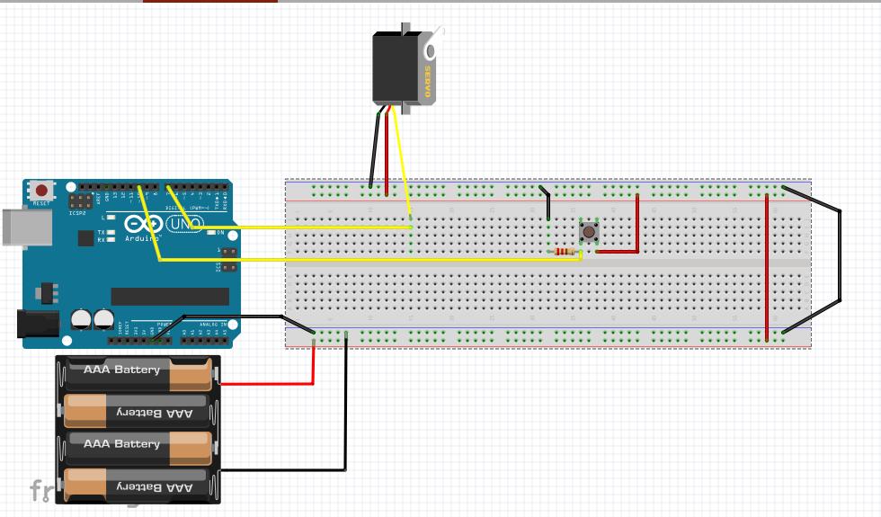 Controle de servomotor com arduino para abertura e fechamento