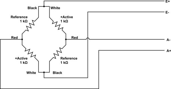 Circuito com células de carga