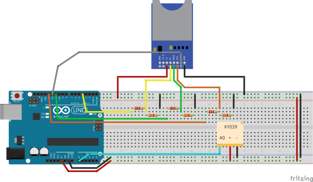 Medidor de frequencia cardiaca com KY039