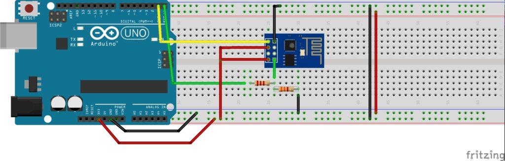 Montagem ESP01 e arduino