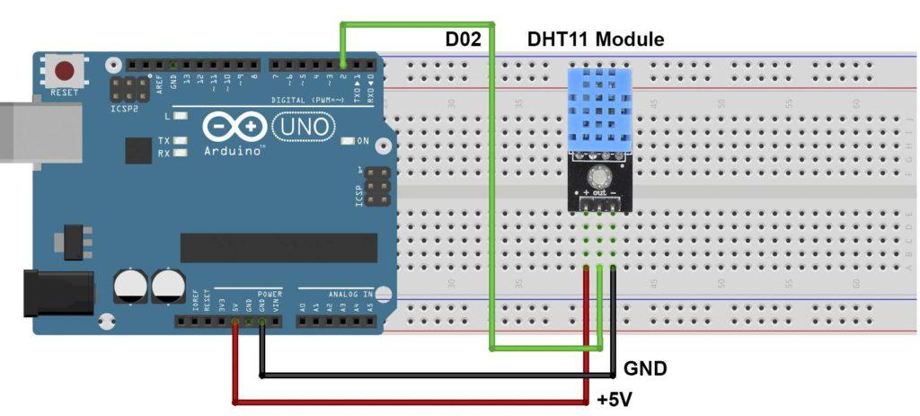 Diagrama Fritzing - Arduino e sensor DHT11