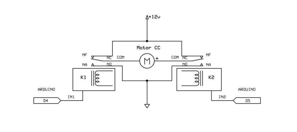 Diagrama de Ponte H com Arduíno
