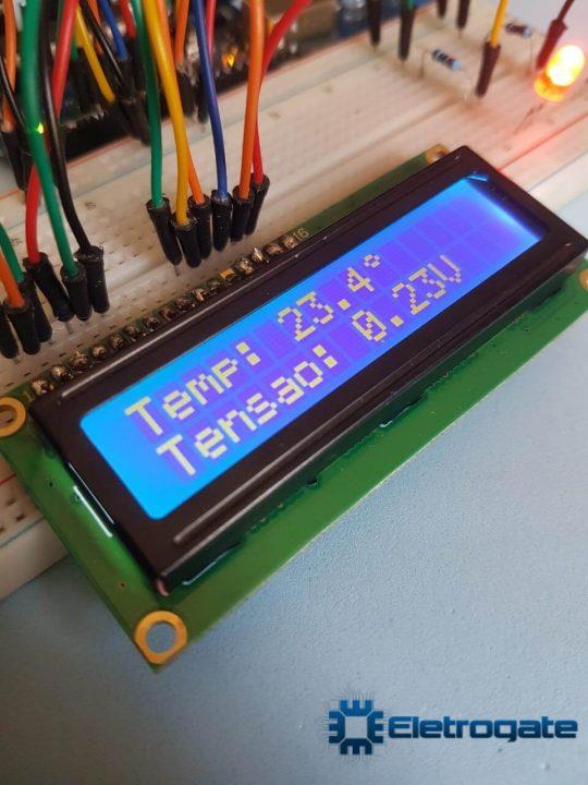 Medidor de temperatura com Arduino - Display LCD