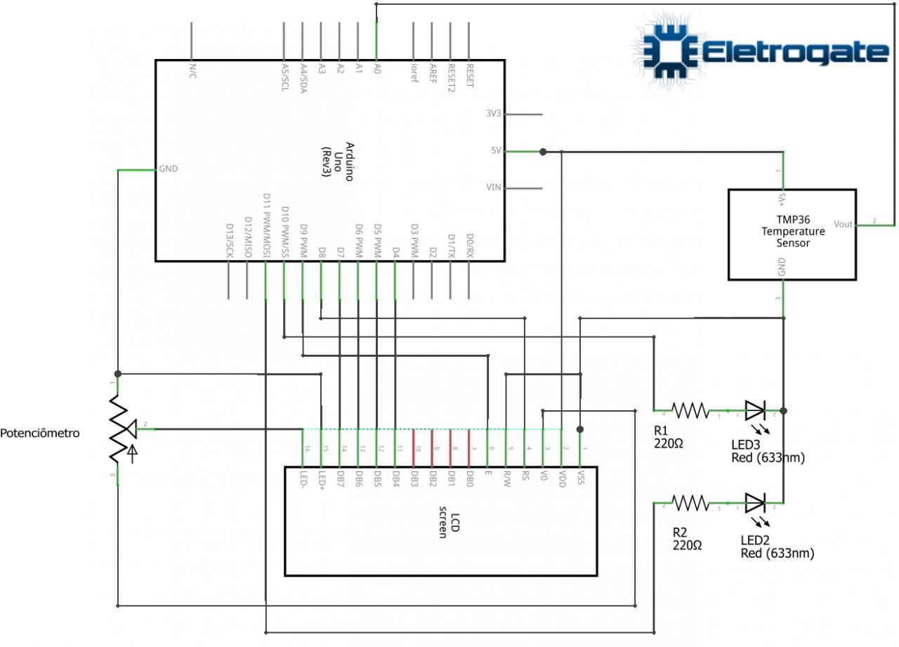 Esquema elétrico do projeto