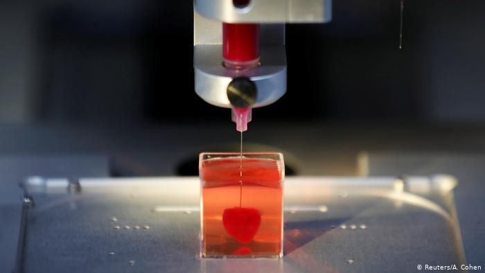 coração impresso com tecido humano