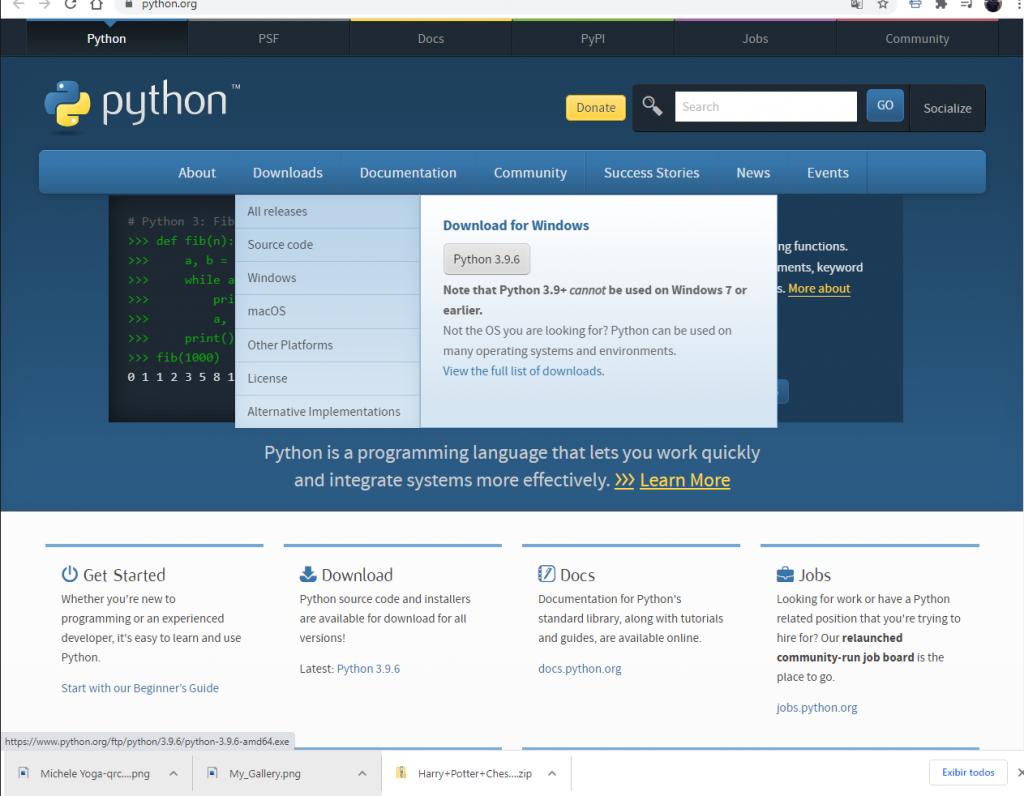 Página oficial Python