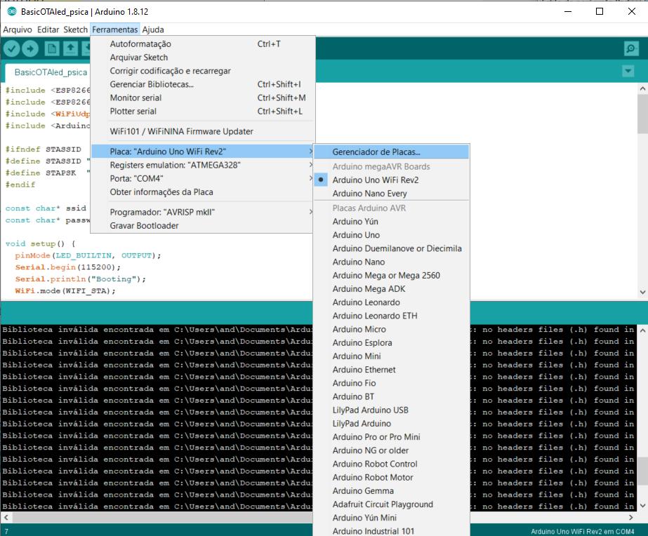 Blog-Eletrogate-Arduino-IDE-Uno-WIFI